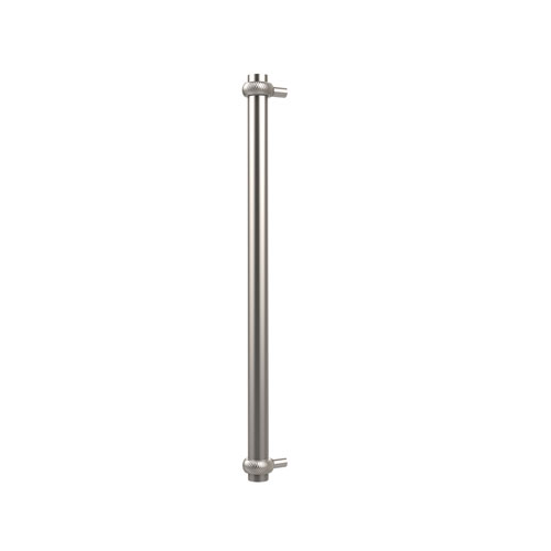 18 Inch Refrigerator Pull with Twisted Accents, Satin Nickel