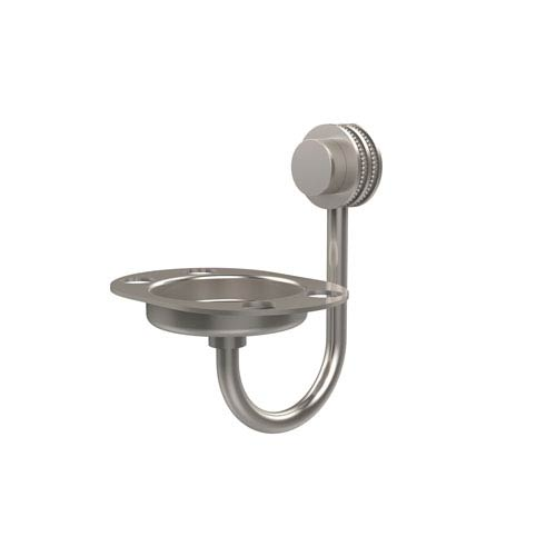 Allied Brass Venus Collection Wall Mounted Soap Dish with Dotted Accents, Satin Nickel