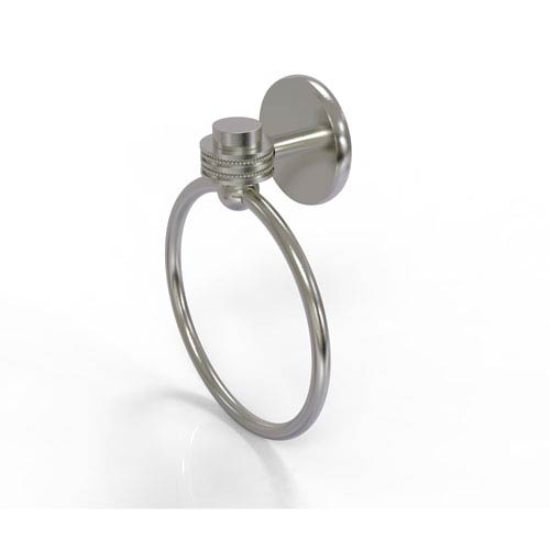 Satellite Orbit One Collection Towel Ring with Dotted Accent, Satin Nickel