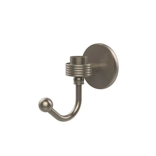 Satellite Orbit One Robe Hook with Groovy Accents, Antique Pewter