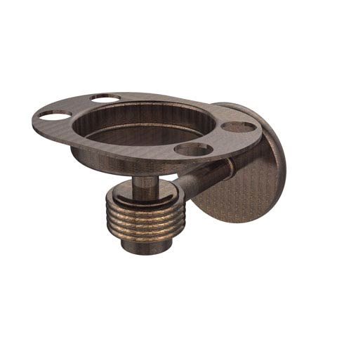 Satellite Orbit One Tumbler and Toothbrush Holder with Groovy Accents, Venetian Bronze