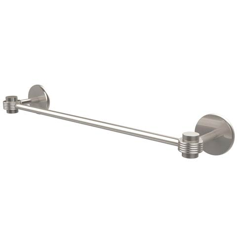 Satellite Orbit One Collection 18 Inch Towel Bar with Groovy Accents, Satin Nickel
