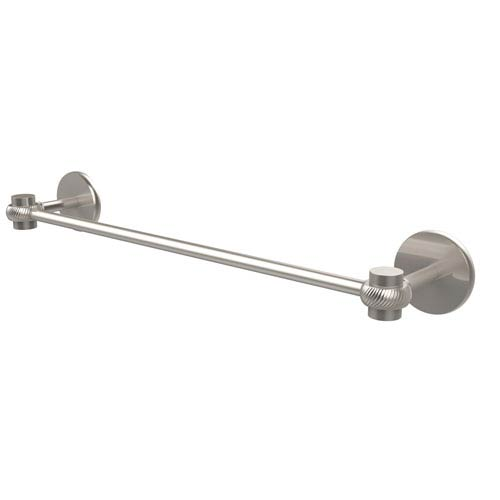 Satellite Orbit One Collection 36 Inch Towel Bar with Twist Accents, Satin Nickel