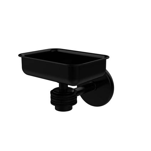 Satellite Orbit One Wall Mounted Soap Dish with Dotted Accents, Matte Black