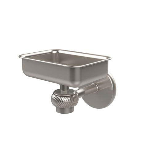 Allied Brass Satellite Orbit One Wall Mounted Soap Dish with Twisted Accents, Satin Nickel