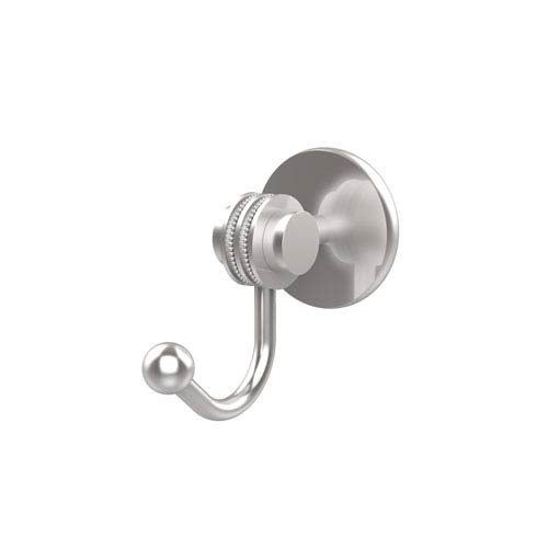 Allied Brass Satellite Orbit Two Collection Robe Hook with Dotted Accents, Satin Chrome
