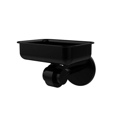 Satellite Orbit Two Collection Wall Mounted Soap Dish, Matte Black