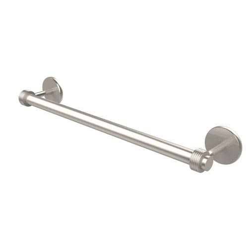 Satellite Orbit Two Collection 30 Inch Towel Bar with Groovy Detail, Satin Nickel