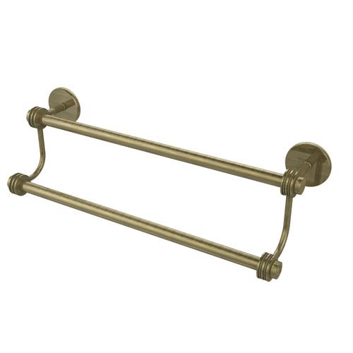 30 Inch Double Towel Bar, Antique Brass