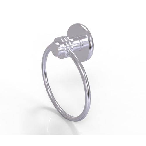 Mercury Collection Towel Ring with Dotted Accent, Satin Chrome