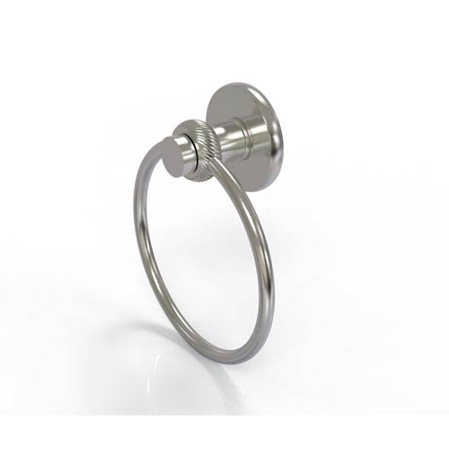 Mercury Collection Towel Ring with Twist Accent