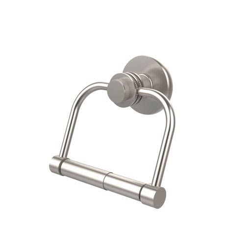 Mercury Collection 2 Post Toilet Tissue Holder with Dotted Accents, Satin Nickel