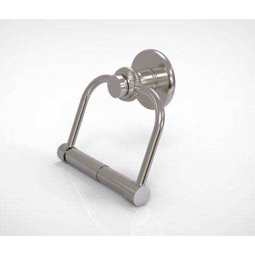 Allied Brass Mercury Collection 2 Post Toilet Tissue Holder with Twisted Accents, Satin Nickel