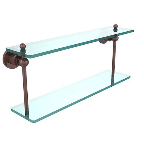 Antique Copper 22-Inch Double Shelf