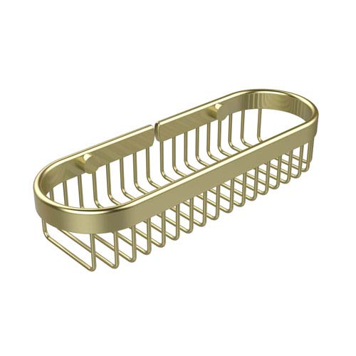 Oval Toiletry Wire Basket, Satin Brass