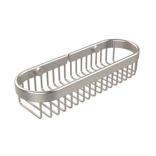 Oval Toiletry Wire Basket, Satin Nickel