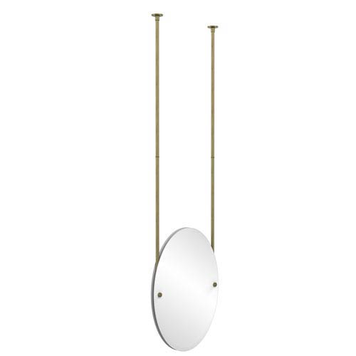 Oval Ceiling Hung Mirror