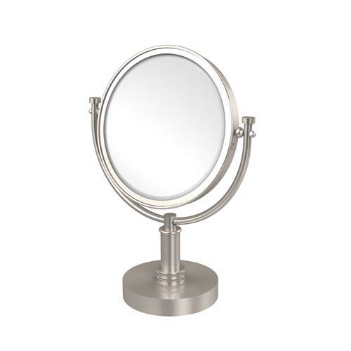 8 Inch Vanity Top Make-Up Mirror 3X Magnification, Satin Nickel