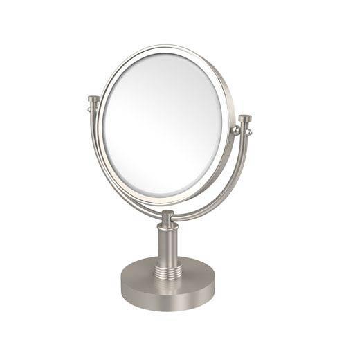 8 Inch Vanity Top Make-Up Mirror 2X Magnification, Satin Nickel