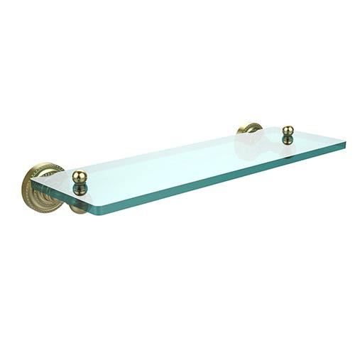 Satin Brass 16-Inch Single Shelf