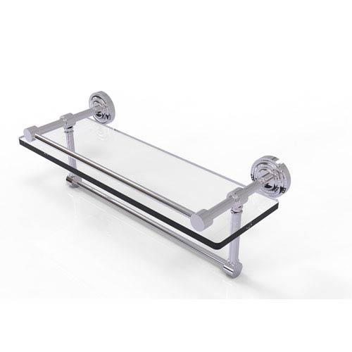 Dottingham 16-Inch Gallery Glass Shelf with Towel Bar
