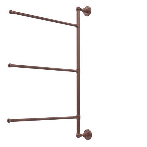 Dottingham Collection 3 Swing Arm Vertical 28 Inch Towel Bar, Antique Copper