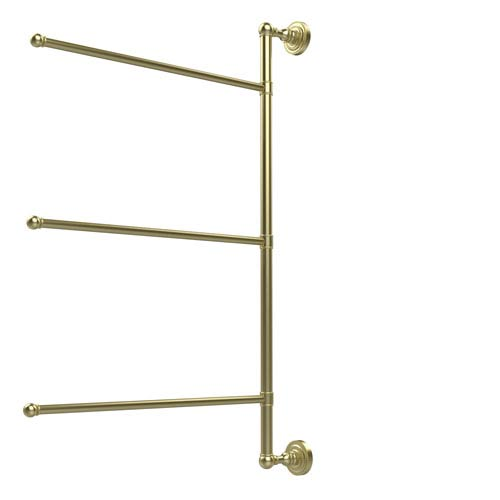 Dottingham Collection 3 Swing Arm Vertical 28 Inch Towel Bar, Satin Brass