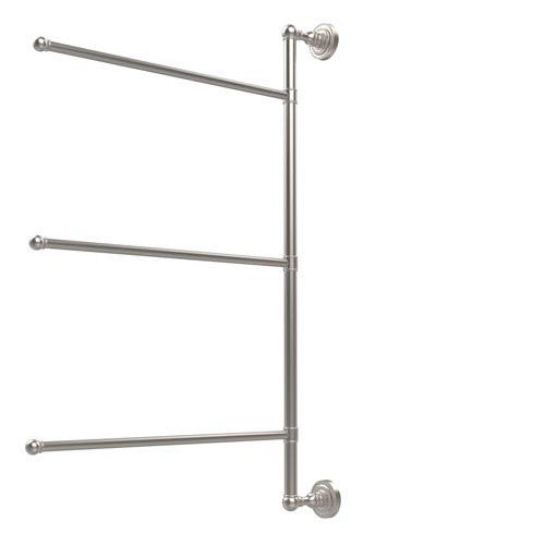 Dottingham Collection 3 Swing Arm Vertical 28 Inch Towel Bar, Satin Nickel
