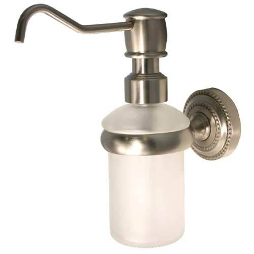 Allied Brass Dottingham Satin Nickel Wall Mounted Soap Dispenser Dt