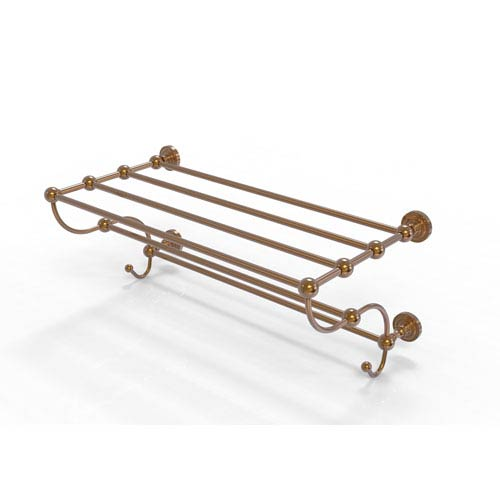 Dottingham Collection 24 Inch Train Rack Towel Shelf, Brushed Bronze