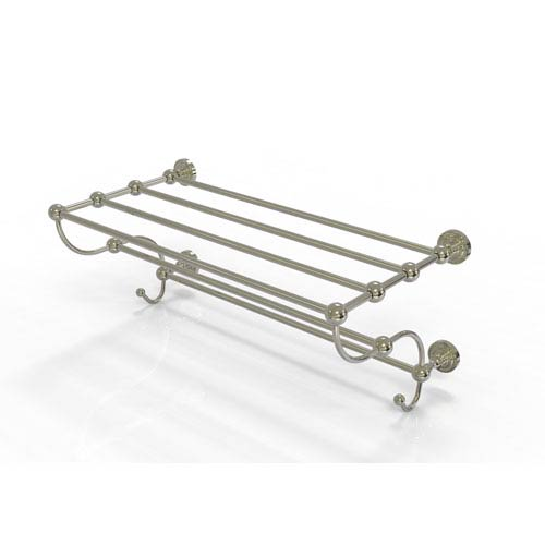 Dottingham Collection 36 Inch Train Rack Towel Shelf, Polished Nickel
