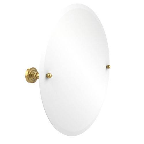 Dottingham Polished Brass 22 Inch Round Tilt Beveled Mirror