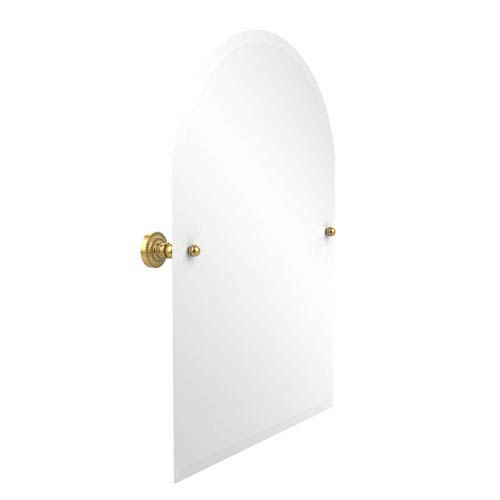 Allied Brass Dottingham Polished Brass 21 Inch x 26 Inch Arched Top Mirror
