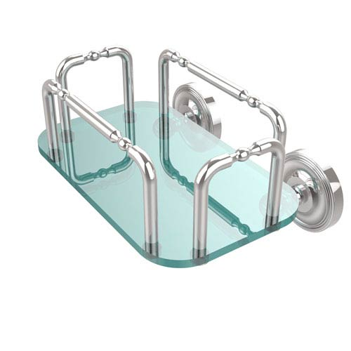 Allied Brass Prestige Wall Mounted Guest Towel Holder, Polished Chrome