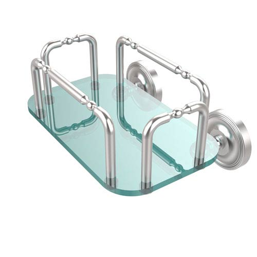 Allied Brass Prestige Wall Mounted Guest Towel Holder, Satin Chrome