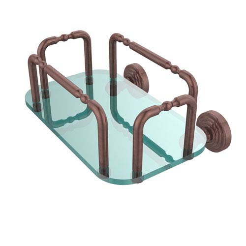 Waverly Place Wall Mounted Guest Towel Holder, Antique Copper
