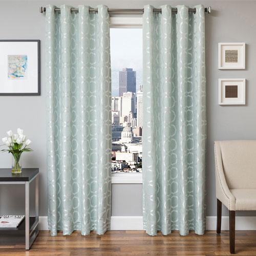 Softline Home Fashions Lanier Spa 84 x 55 In. Geometric Jacquard Panel