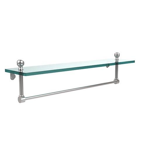 Polished Chrome Mambo 22-Inch Glass Shelf with Towel Bar