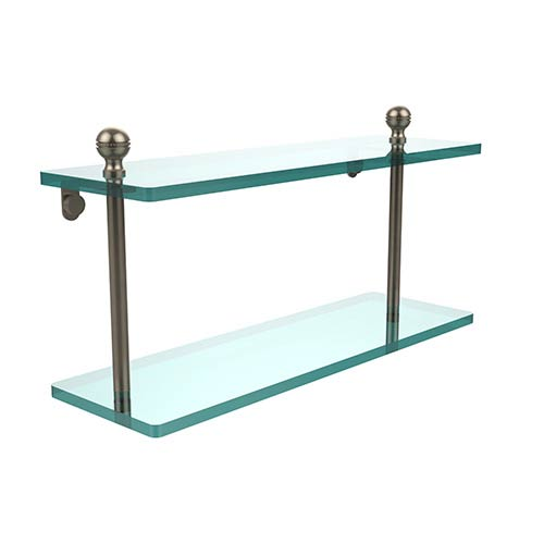 Allied Brass Mambo Antique Pewter Double Shelf