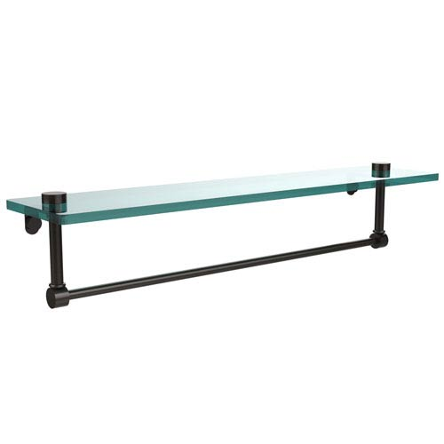 Allied Brass 22 Inch Glass Vanity Shelf with Integrated Towel Bar, Oil Rubbed Bronze