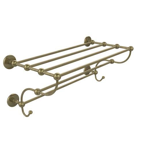 Prestige Skyline Collection 24 Inch Train Rack Towel Shelf, Antique Brass