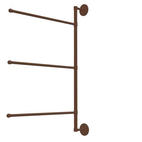 Prestige Skyline Collection 3 Swing Arm Vertical 28 Inch Towel Bar, Antique Bronze