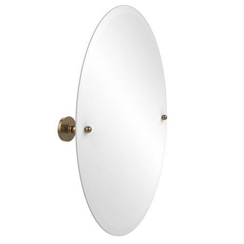 Allied Brass Frameless Oval Tilt Mirror with Beveled Edge, Brushed Bronze