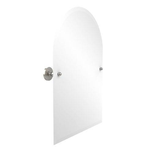 Prestige Skyline Collection Frameless Arched Top Tilt Mirror with Beveled Edge, Satin Nickel