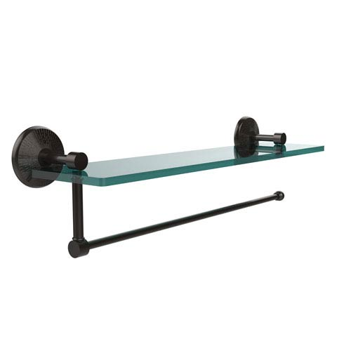 Prestige Monte Carlo Collection Paper Towel Holder with 16 Inch Glass Shelf, Oil Rubbed Bronze