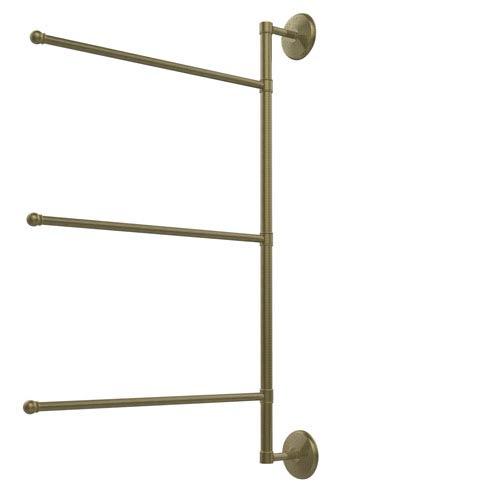 Prestige Monte Carlo Collection 3 Swing Arm Vertical 28 Inch Towel Bar, Antique Brass