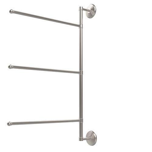 Prestige Monte Carlo Collection 3 Swing Arm Vertical 28 Inch Towel Bar, Satin Nickel