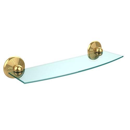 Polished Brass Prestige Monte Carlo 18-Inch Glass Shelf