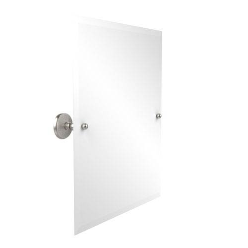 Frameless Rectangular Tilt Mirror with Beveled Edge, Satin Nickel