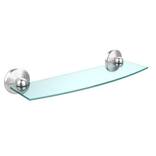 Prestige Monte Carlo Satin Chrome 18 Inch Glass Shelf